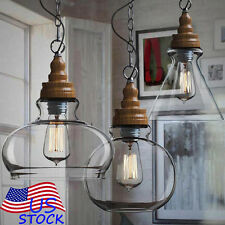 Classic Vintage Industrial Fixture Ceiling Lamp Glass lampshade Pendant Light