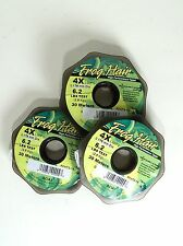 FROG HAIR TIPPET, 30 METER SPOOLS, AVAILABLE IN 1X THROUGH 8X