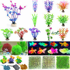 Artificial Glow Fish Grass Silicone Plants Coral Ornament Aquarium Fish Tank Dec