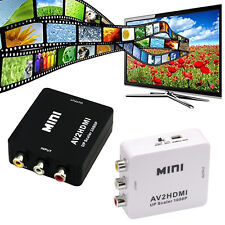 Black/White 1080P AV S-video/CVBS to HDMI Video Converter Adapter Full HD Output