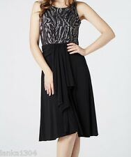 Silver Black Embellished Shimmer Party Prom Dress Gown (NEW) sizes 8, 10, 12