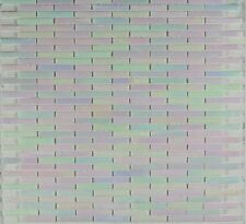 Mosaic Thin Subway Brick Pattern Glass Backsplash - Wall Tile Iridescent Pearl