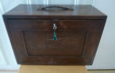 Vintage Oak Engineers Tool Chest/Collectors Chest