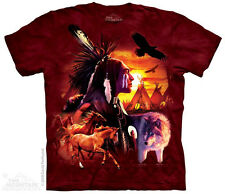Indian Collage The Mountain Adult Size T-Shirt