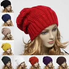 Knit Beanie Men's Womens Baggy Oversize Hat Ski Slouchy Cap Thick Unisex New