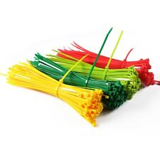 """5x250mm 10"""" Self-Locking Nylon Cable Ties 100Pcs/Pack Colorful Cable Zip Tie"""