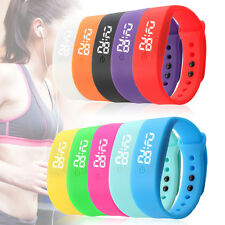 Hot Sport Mens Women Watch Silicone Digital LED Bracelet Waterproof Watch Reloj