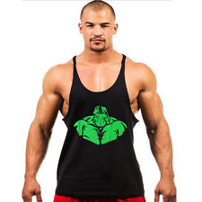 The Hulk Bodybuilding Men's Tank Top Athletic Gym Singlet Fitness Sport Vest