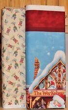 Christmas Jim Shore Santa Elf Panel & Coordinating Fabric SOLD SEPARATELY bty