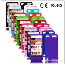 iPod Touch 5 Silicone Soft Gel Back Cover itouch 5 Jelly Bean Case & Protector
