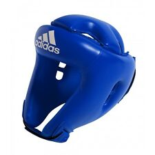 adidas Rookie Training Headguard Boxing Headgear MMA MuayThai Kick Boxing-BLUE
