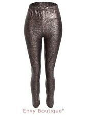 Ladies Womens Leopard Animal Print Stretchy Leggings Pants Stretch Full Length