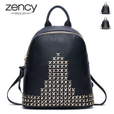 Rock Rivet Vintage Brand Genuine Leather Women Backpack Laides Laptop Handbag