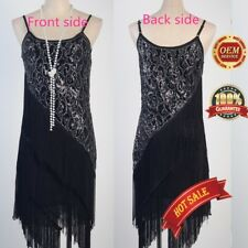 CHARLESTON FLAPPER GATSBY DRESS 1920s ART DECO COCKTAIL PARTY EMBELLISHED
