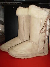 Ladies Lace Up Ugg Boots Biege Sizes 5 to 10
