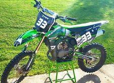KX85 KX100 graphics kit 2014 2015 2016 Kawasaki #7777 GREEN Free Custom Service