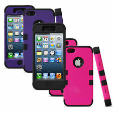 For Apple iPhone 5/5S Hybrid Armor 3 Layers Rubber Hard Protective Case Cover