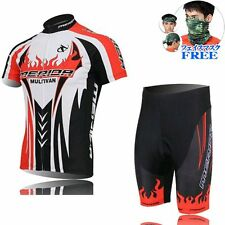 2016 Cycling Short Sleeve  jersey Jacket Shorts Outdoor Bicycle Wear RED+BLACK