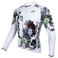 Skull Men Long Sleeve Cycling Jersey Bicycle Bike Sportwear Apparel CX29s