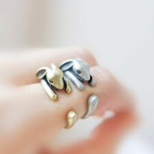 Cute 3D Animal Hare Silver/Bronze Knuckle Rings Sister 's Opening Ring Gifts