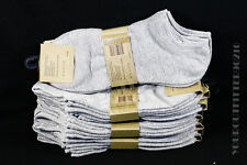 9-11 10-13 Quality Casual Cotton Spandex Low Cut Gray Comfort Socks 3 6 Pairs