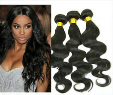 "3Bundles 100% Virgin REMY 8""-20"" Black Peruvian Human Hair Weave Extensions"