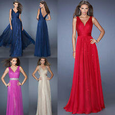 Sexy Womens V Neck Formal Evening Party Cocktail Prom Sequin Wedding Maxi Dress