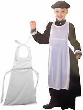 Victorian Apron Kids Fancy Dress School Play White Costume Prop World War 1C