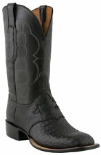 Lucchese 1883 C1062 W8 Mens Black Hornback Caiman Crocodile Boots Made in USA
