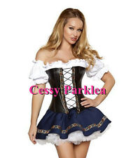 Oktoberfest Ladies German Beer Maid Bavarian Girl Fancy Dress Party Costume 8-12