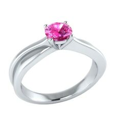 0.50 ct Solitaire Natural Pink Sapphire Solid Gold Wedding Engagement Ring