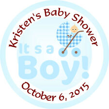 Personalised 37mm Baby Shower Stickers Labels Party Thank You Seals - L908