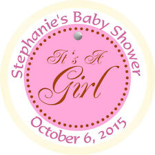 Personalised 37mm Baby Shower Stickers Labels Party Thank You Seals - L928