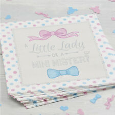 BABY SHOWER LITTLE LADY OR MINI MISTER TABLEWARE DECORATIONS GENDER REVEAL PARTY