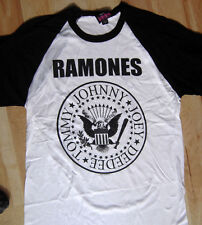 THE RAMONES PRESIDENTIAL SEAL WHITE JERSEY NEW LICENSED SIZE MEDIUM PUNK KBD