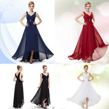Lady Chiffon Long Cocktail Party Formal Bridesmaid Evening Gown Ball Prom Dress