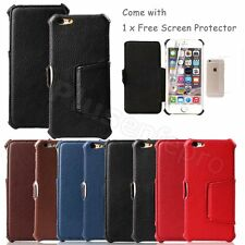 Premium Flip Stand Leather Case Free Screen Protector for Apple iPhone 6 4.7""