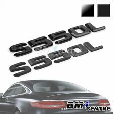 BLACK REAR BOOT EMBLEM BADGE S550L FOR MERCEDES BENZ S CLASS W221 W222 AMG