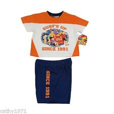 """BNWT Licensed The Wiggles """"Surfs Up"""" Summer Pjs/Pyjamas - Size 1 ONLY"""