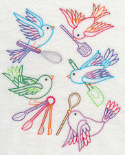 Kitchen Teatowel - Vintage baking birds medley