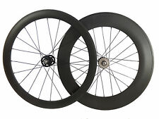 23mm Width 50+88mm Clincher Track Bicycle Wheelset Track Fixed Gear Carbon Wheel