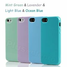 For Apple iPhone 5 5S Solid Colour Soft TPU Rubber Gel Back Case Cover Skin