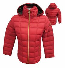 Michael Kors XS S M L Red Quilted Down Packable Puffer Jacket MSRP $200 MK40