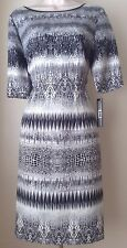 Tahari by ASL Print Twill Sheath Dress NWT Size 10
