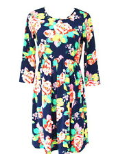 NEW ASOS NAVY PANSY FLORAL PRINT SKATER DRESS SIZE 6-18 RRP £25