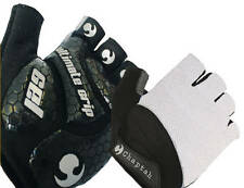 Chaptah - Ultimate Grip Half-Finger Cycling Gloves (Black/White) XL