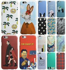 Cute Cartoon Pattern Style Slim PC Plastic Back Phone Case Cover Skin For Iphone