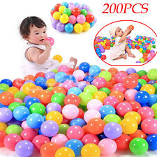 100/ 200pcs Colorful Ball Fun Ball Soft Plastic Ocean Ball Baby Kid Swim Pit Toy