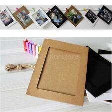 10X Paper Photo Wall Art Picture Hanging Album Frame With Hemp Rope Clips A3E7