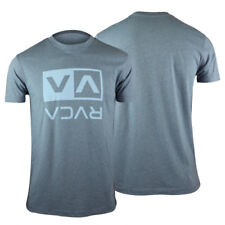 RVCA VA Sport Flipped Box T-Shirt (Blue) - mma surf skate